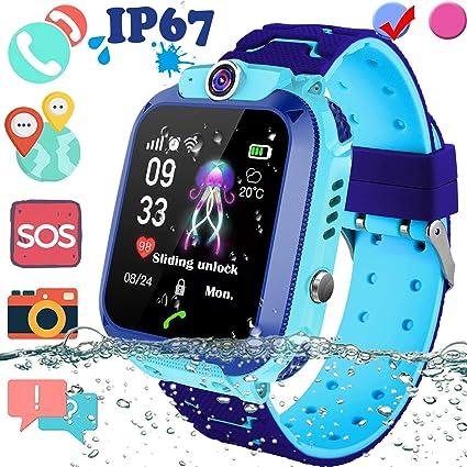 Amazon.com: Upgrade Kids Smart Watch GPS Tracker - IP67 ...