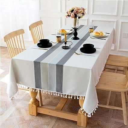 Moyad Tischdecke Aus Baumwolle Tischlaufer Abwaschbar Wachstuch Tischwasche Wachstischdecke Wachstuchtischdecke Wachstuchdecke Fur Garten Balkon Terrasse Wohnzimmer Grau Amazon De Kuche Haushalt