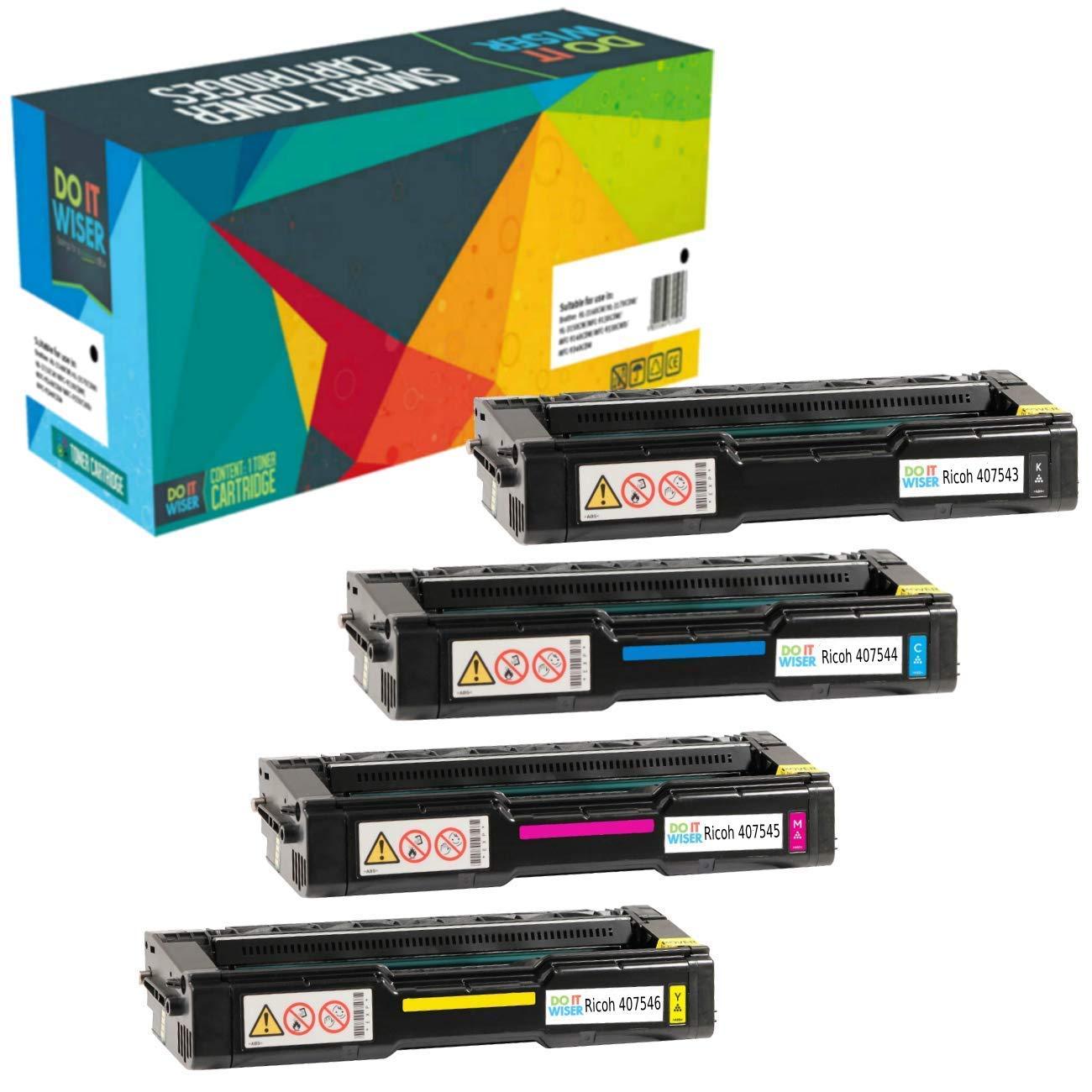 4 Doitwiser ® Kompatibel Toner für Ricoh SP C250 SP C250dn SP C250sf SP C252 SP C252dn SP C252sf - 407543 407544 407545 407546 Do it Wiser non Ricoh Original