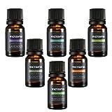 VicTsing Lot de 6 Huiles Essentielles Aromathérapie, 6 Bouteilles 10ml(Orange, Lavande, Arbre à Thé, Citronnelle, Eucalyptus et Menthe Poivrée)