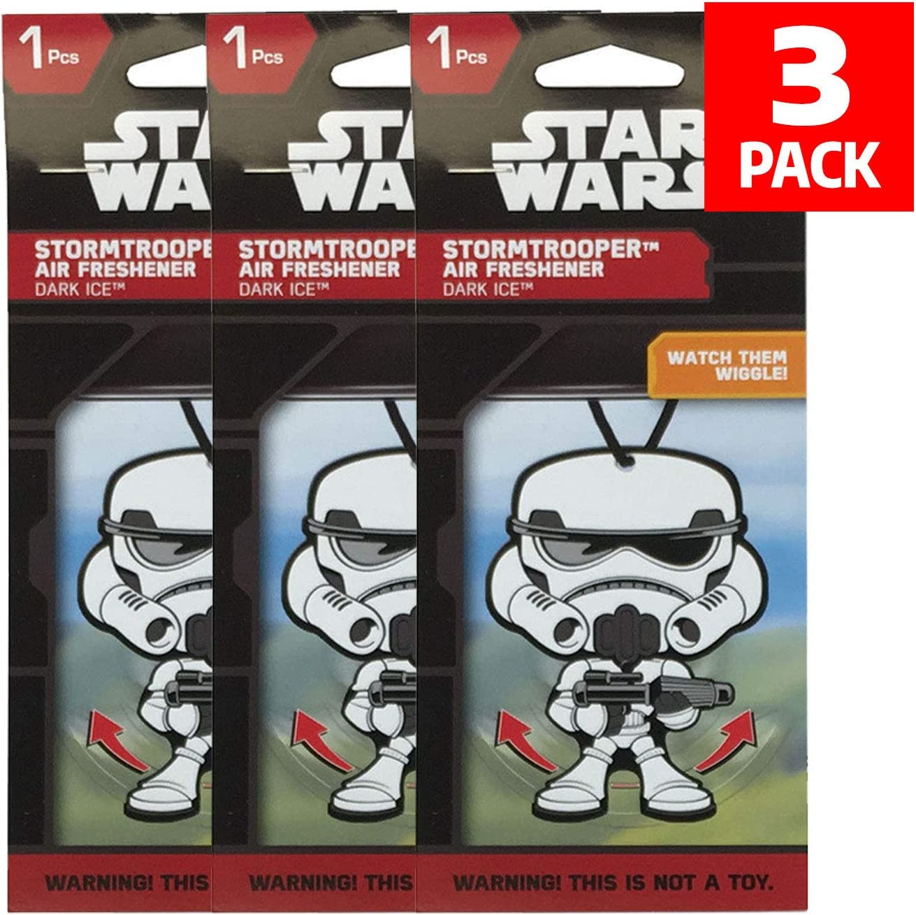 Plasticolor Star Wars Stormtrooper Car Accessories - Stormtrooper Air Freshener Wiggler (3)