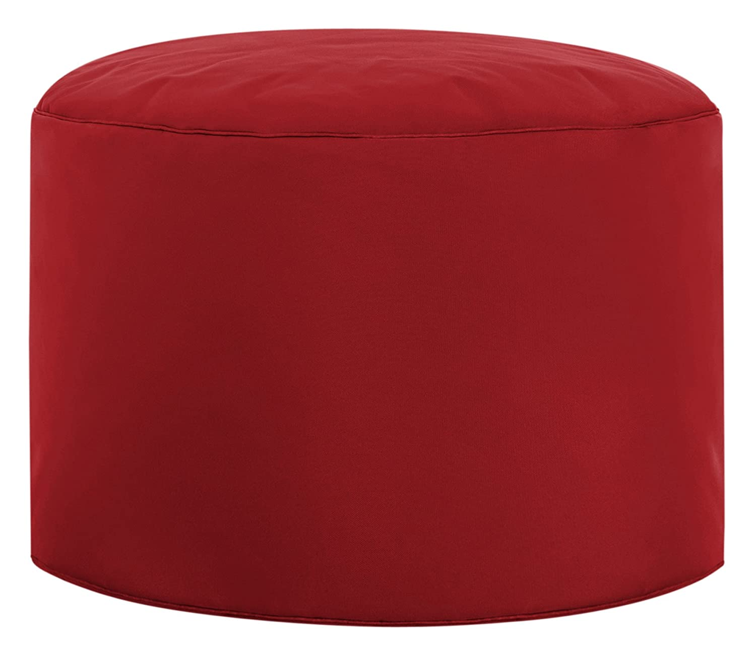 GOUCHEE DESIGN Dotcom Collection Contemporary Polyester Upholstered Round Pouf/Ottoman, Black B2C International S2842101