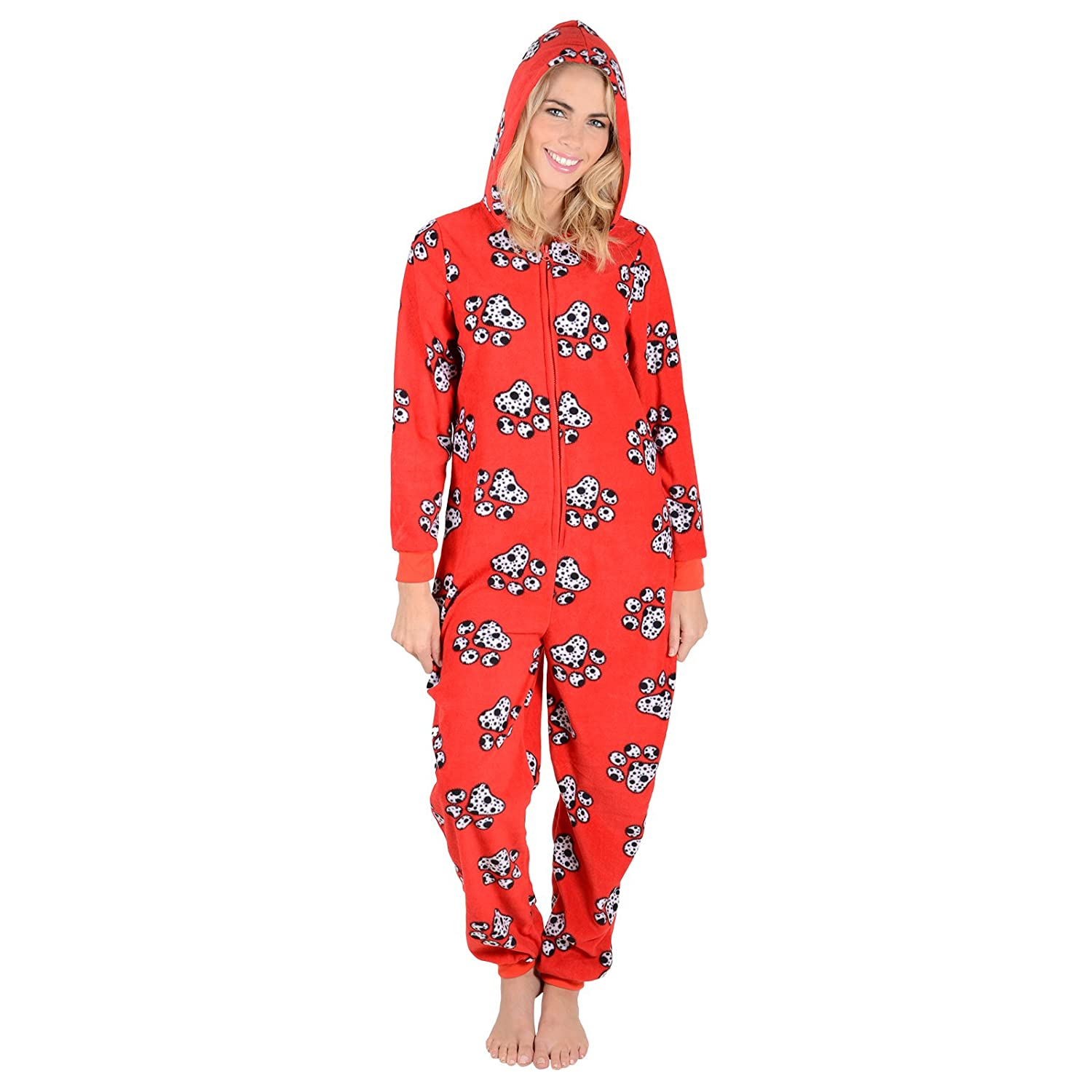 Autumn Faith Ladies Fleece All in One Piece Nightwear