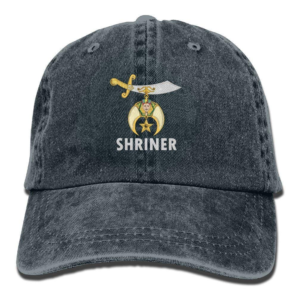 Logo Shriners International Vintage Washed Dyed Cotton Twill Low Profile Adjustable Baseball Cap Haipaul