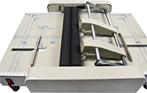 INTBUYING Booklet Binding Machine Binder Maker Booklet Binder Staple Folder 110V Automatic Book Binder Staple Folder