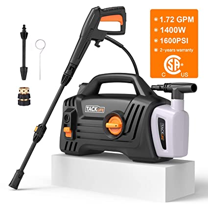 Pressure Washer High Efficiency 1600 PSI 1.72 GPM 1400W Electric Power Washer Lightweight and  sc 1 st  Amazon.com & Amazon.com : Pressure Washer High Efficiency 1600 PSI 1.72 GPM ...