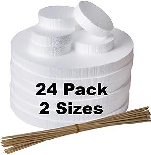 for Craft 2 Sizes 12 x 4 x 1 and 4 x 4 x 2 Inch Modeling 20 Pack Craft Foam Blocks -Rectangle /& Square Foam Blocks- Styrofoam Blocks Sculpture DIY Arts and Crafts Craft Foams