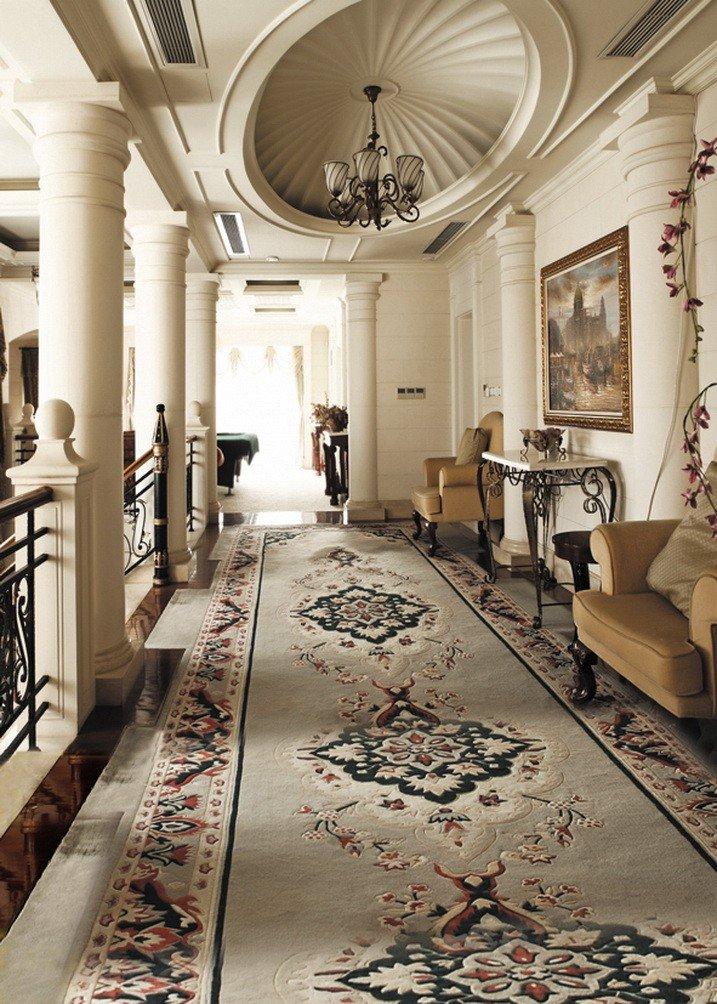 A Monamour城インドアLuxury Hall Interior DecorationベージュロングカーペットパスStudioプロップビニール布写真の背景幕   B01KTO7XOM