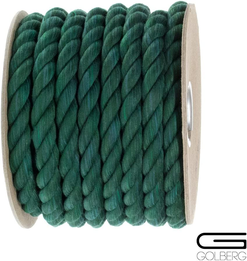 GOLBERG G Twisted Cotton Rope -/USA Made -/Strong Natural Twisted Rope Soft with Assorted Colors and Diameters Lengths