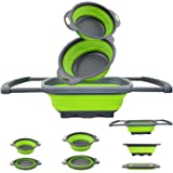 EigPluy Kitchen Collapsible Colander Over The Sink Kitchen Colander Strainer with Extendable Handles 6 Quart Folding…