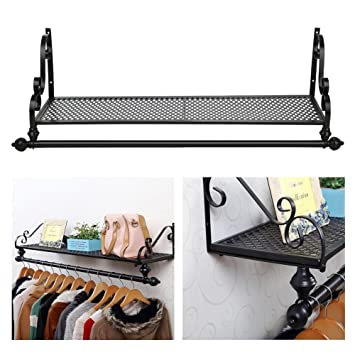 Ogori Heavy Duty Metal Clothes Rail Wall Mounted Garment Hanging