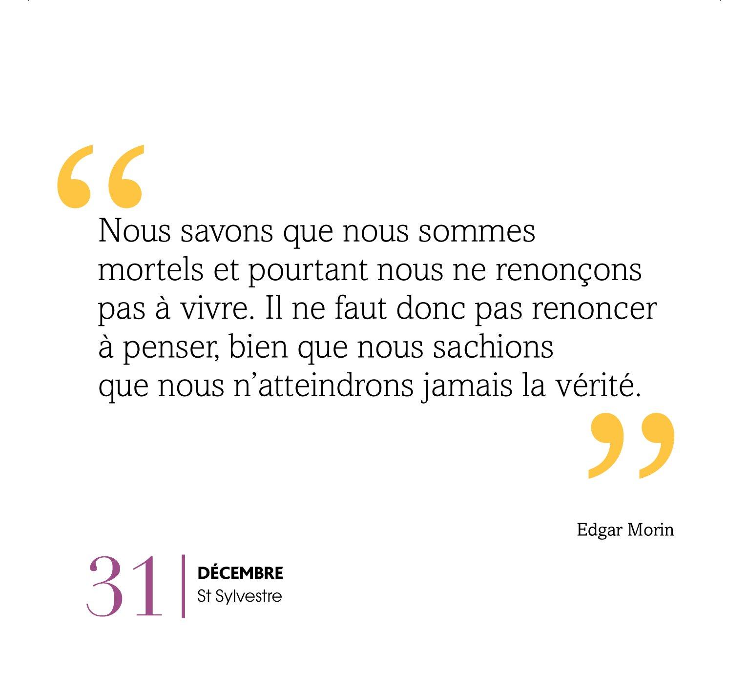 Calendrier Edgar Morin Mieux Penser Maintenant 9782809649826