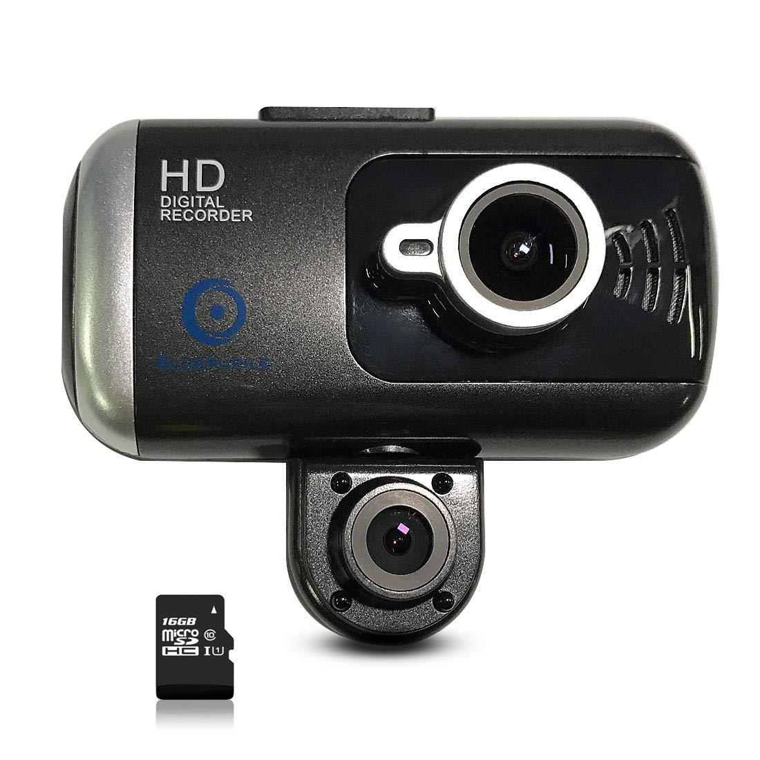 Bluepupile Dual Dash Cam with GPS, 3.0 inch Dual Camera .1080P SOS Loop Recording,HDR, Gravity Sensor,Include 16GB TF Card