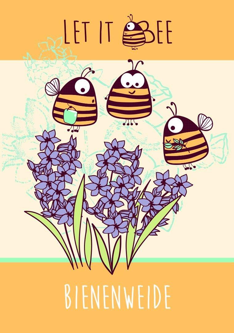 Mit der Let it Bee - Bienenweide erwerbt ihr ein Stück Natur. 35g biologisches, bienenfreundliches Saatgut, das Bienen, Hummeln und Schmetterlinge erfreut.