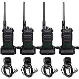 Retevis RT86 Two Way Radios Long Range Rechargeable,High Power Heavy Duty 2600mAh 2 Way Radios,Remote Alarm Walkie Talkies Ad