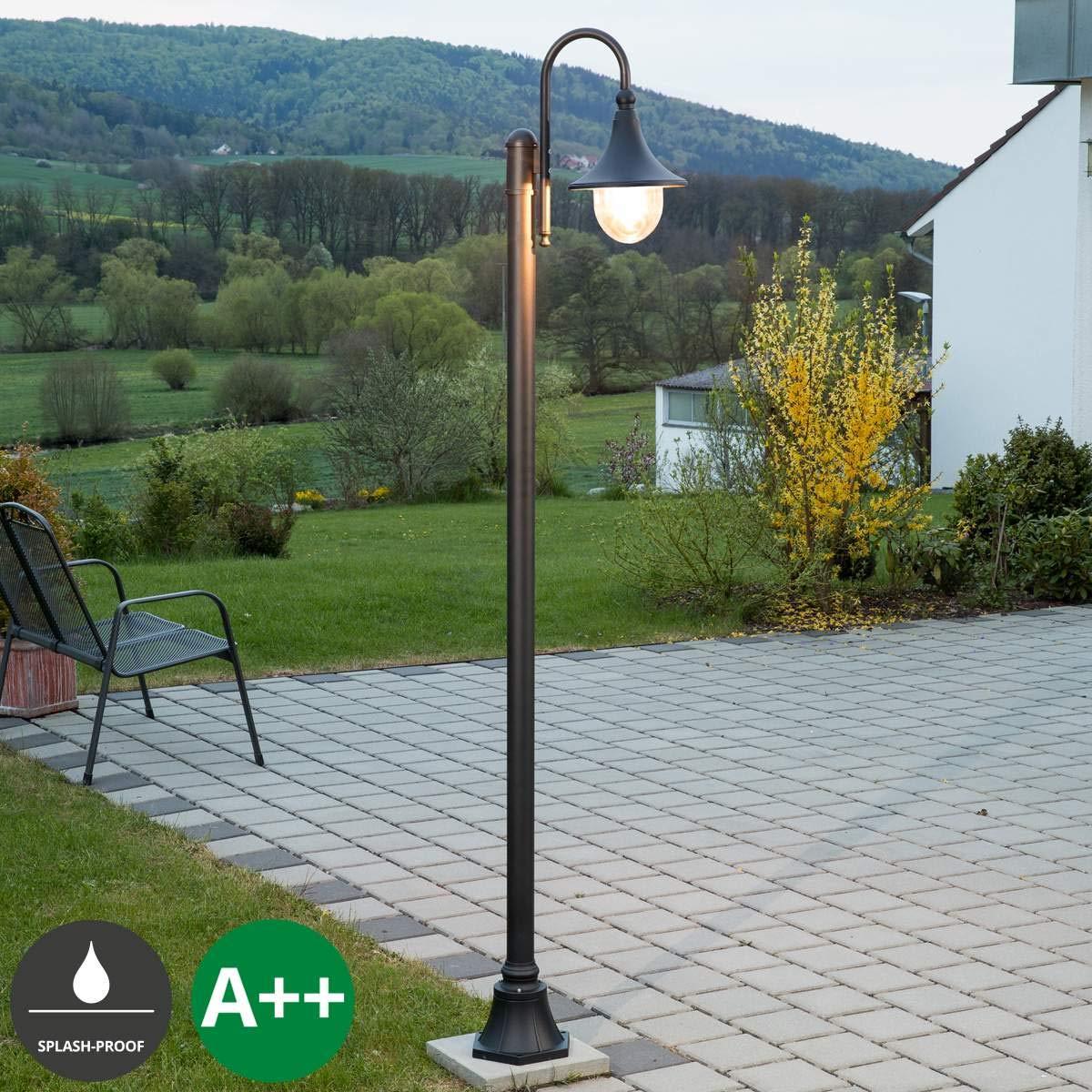 Lampione da esterni 'Daphne' (Moderno) colore Nero, in Alluminio (1 luce, E27, A++) di Lampenwelt   Candelabro, lampada da esterni