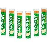 120 Vitamin Energy Boost Effervescent Tablets ORANGE Flavour *6 Packs of 20*