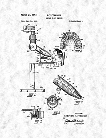 Amazon Com Dental X Ray Device Patent Print Gunmetal 16 X 20