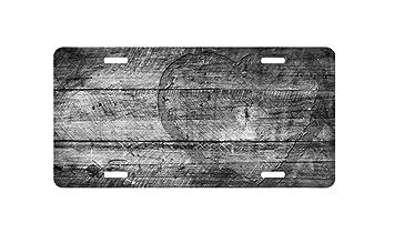 Fhdang Decor Placa Decorativa de Madera Personalizada para Coche con 4 Agujeros para Placa de matrícula, 6 x 12 Pulgadas: Amazon.es: Coche y moto
