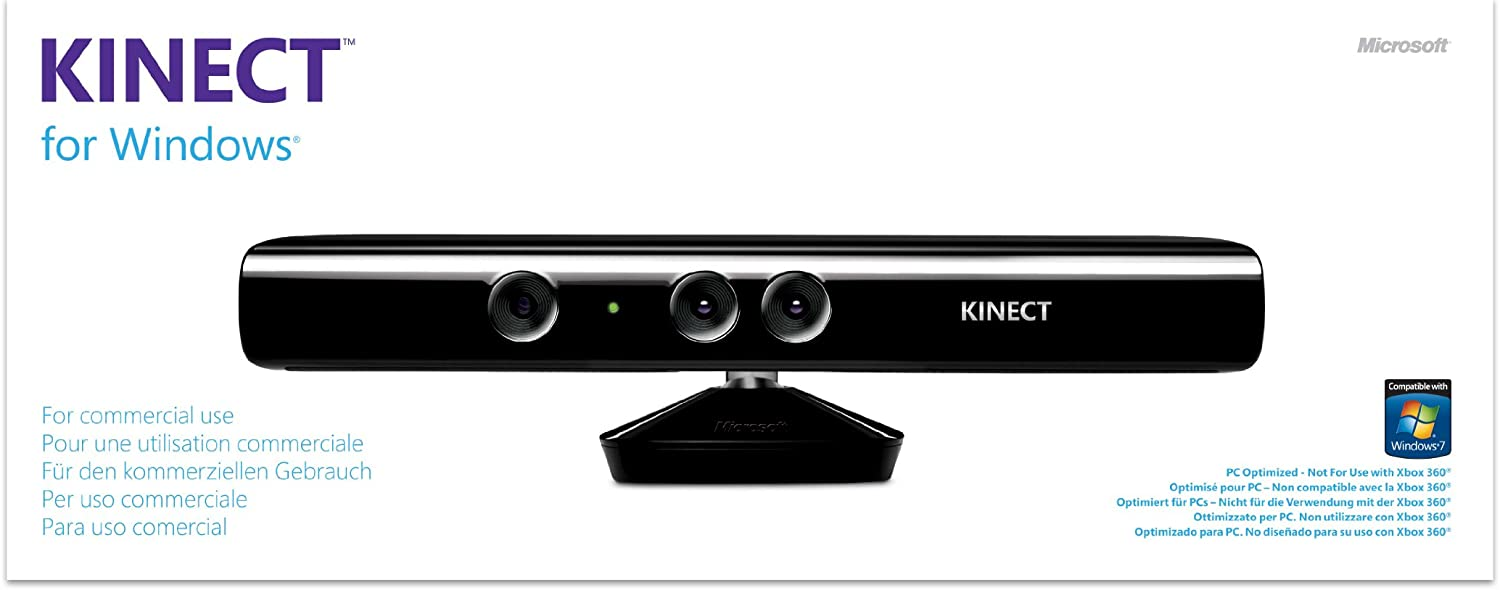 Microsoft Kinect f/Windows - Volante/Mando (PC, Inalámbrico, USB 2.0, 2048 MB, 2.6 GHz, Negro): Amazon.es: Informática