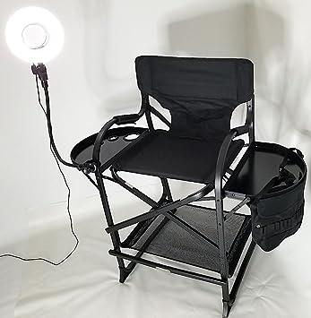 Image Unavailable & Amazon.com: TuscanyPro Portable Makeup u0026 Hair Chair w/ 8