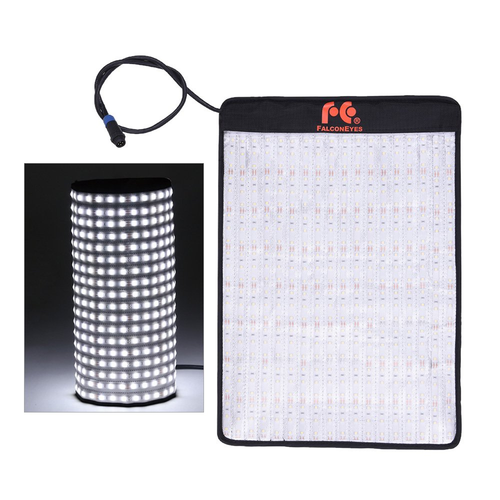 Andoer FalconEyes RX-12T 34W 423pcs LED Beads Slim Fill-in Foldable Rollable Roll-up 5600K LED Camera Photography Light Lamp for Studio Video Film Portrait Shooting