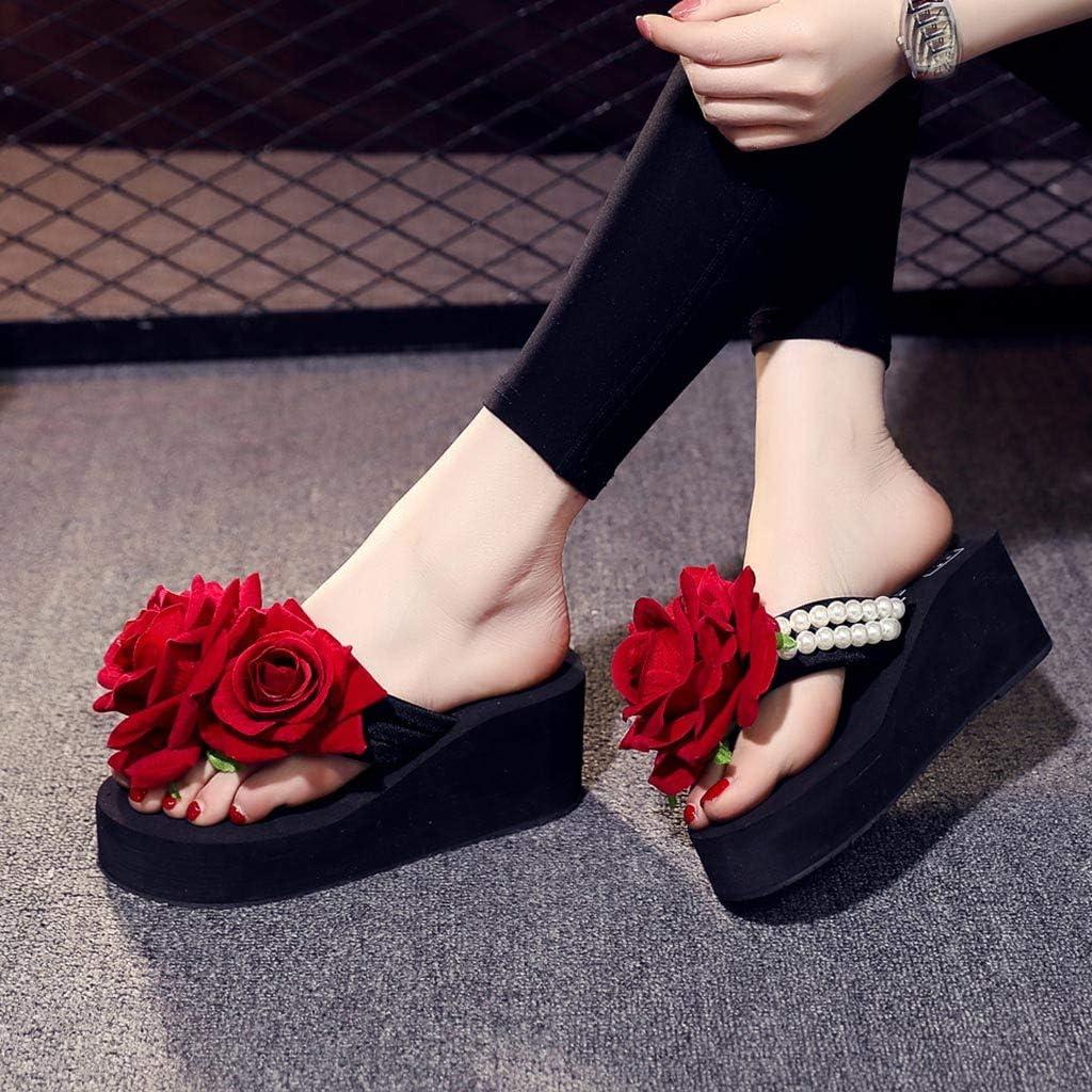 {Minikoad}Women Wedges Flip Flops Sandals,Ladies Beach Shoes Summer Sandals Slippers