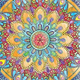 RoomMates RMK3360BX Geometric Mandala Color Your Own Peel and Stick Decal