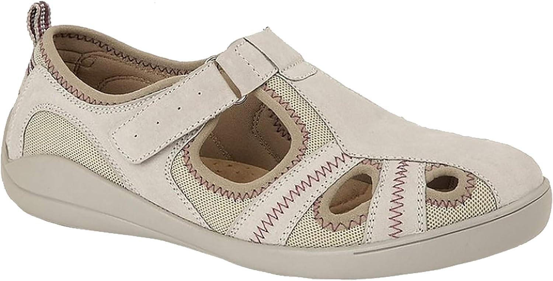 Boulevard Womens//Ladies Leather//Textile Casual Shoe