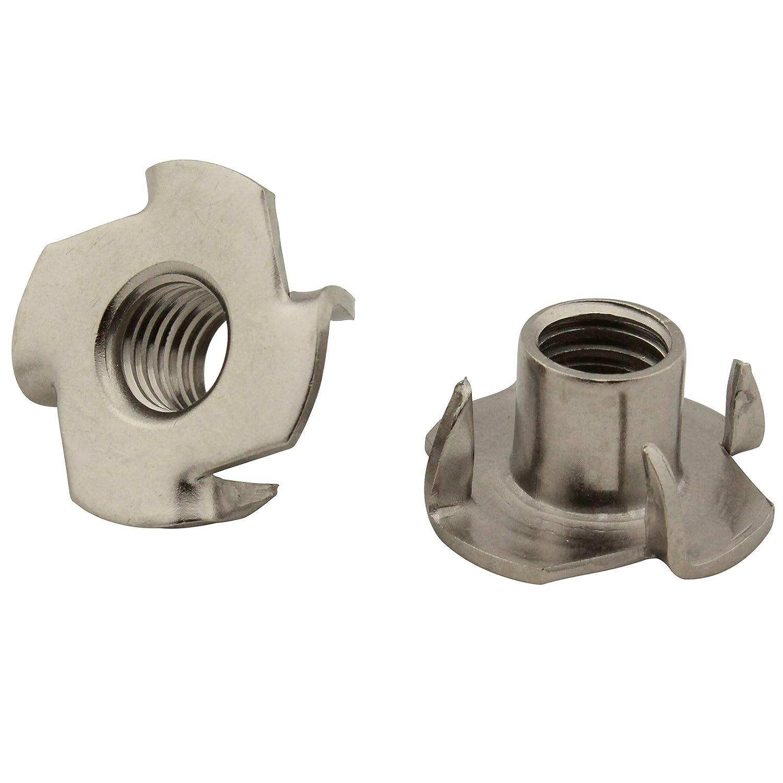 20 Stü ck Einschlagmuttern (mit 4 Einschlagspitzen) - M8 - rostfreier Edelstahl A2 (V2A) - SC9105 | SC-Normteile