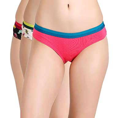 7f9a9cef955 Zivame Women s Animated Cotton Hipster (Z21218-White Pink n Black M ...