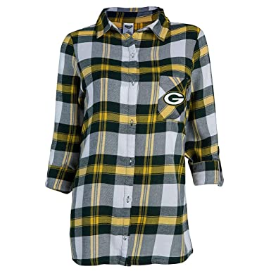 c66d5d58 Image Unavailable. Image not available for. Color: Women's NFL Headway Plaid  Shirt