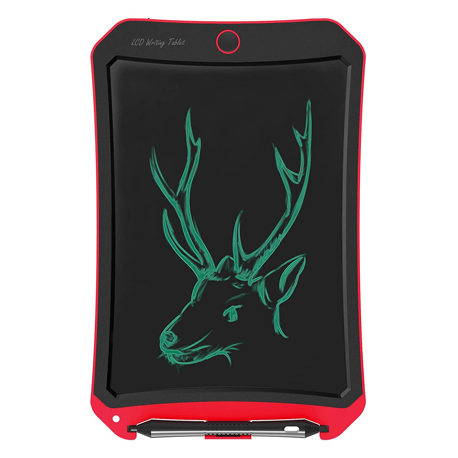 Spring& Writing Tablet for Birthday Gift,Kids Toy 8.5 In LCD Writing Tablet Electronic Writings Pads Drawing Board Gifts for Kids Office Blackboard-Erase Button Lock Included (Red-d)
