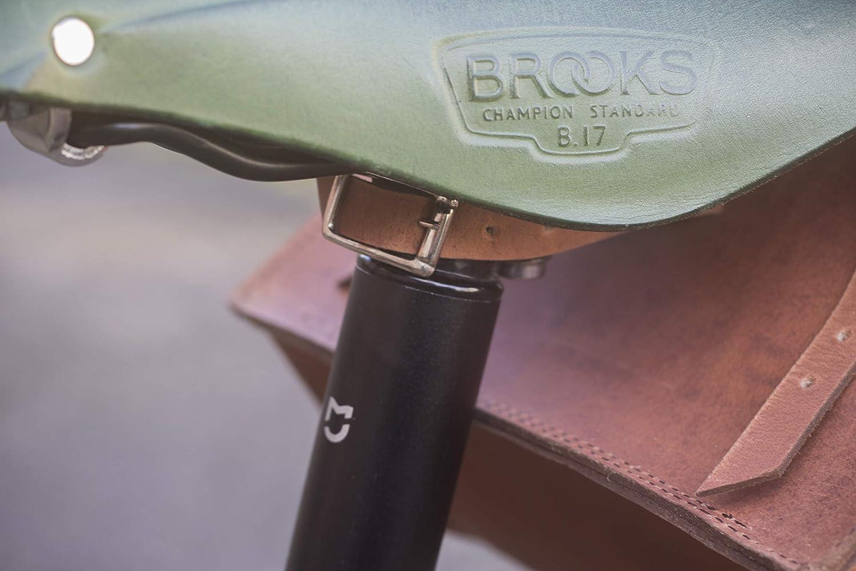 Extra Large sacoche de v/élo Selle de cuir v/éritable//sac de guidon//cadre Marron vintage 23/x 19.5/x 11/cm