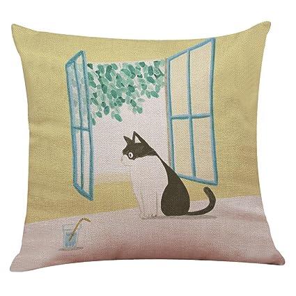 Amazon Com Dingji Cute Cat Sofa Bed Pillow Case Cushion Cover Home
