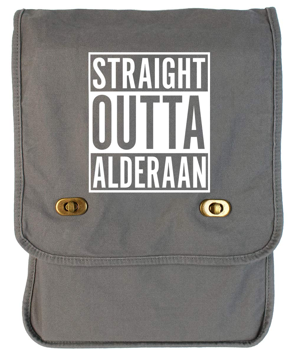 Tenacitee Straight Outta Alderaan Grey Brushed Canvas Messenger Bag