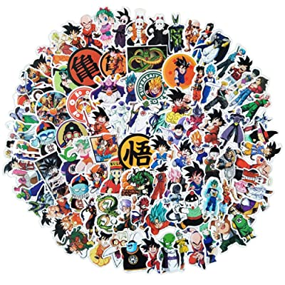 Tvoip 100PCS/pack Cartoon Stickers Dragon Ball Super Anime for Laptop Luggage Bags Bike Phone Styling Cute Toys Doodle PVC Creative: Arts, Crafts & Sewing