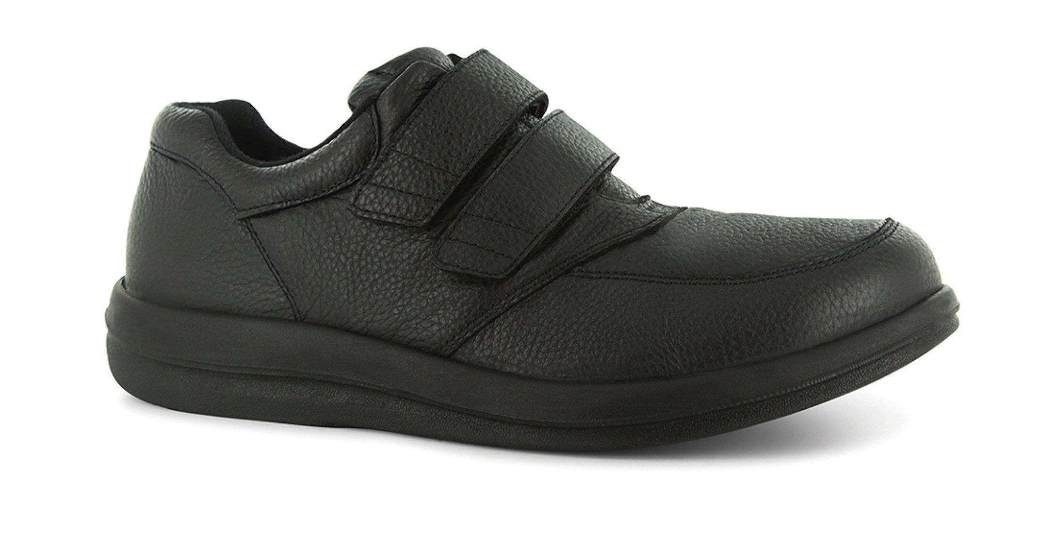 P W Minor Leisure Men's Therapeutic Extra Depth Shoe: Black 9 X-Wide (2E-3E) Velcro