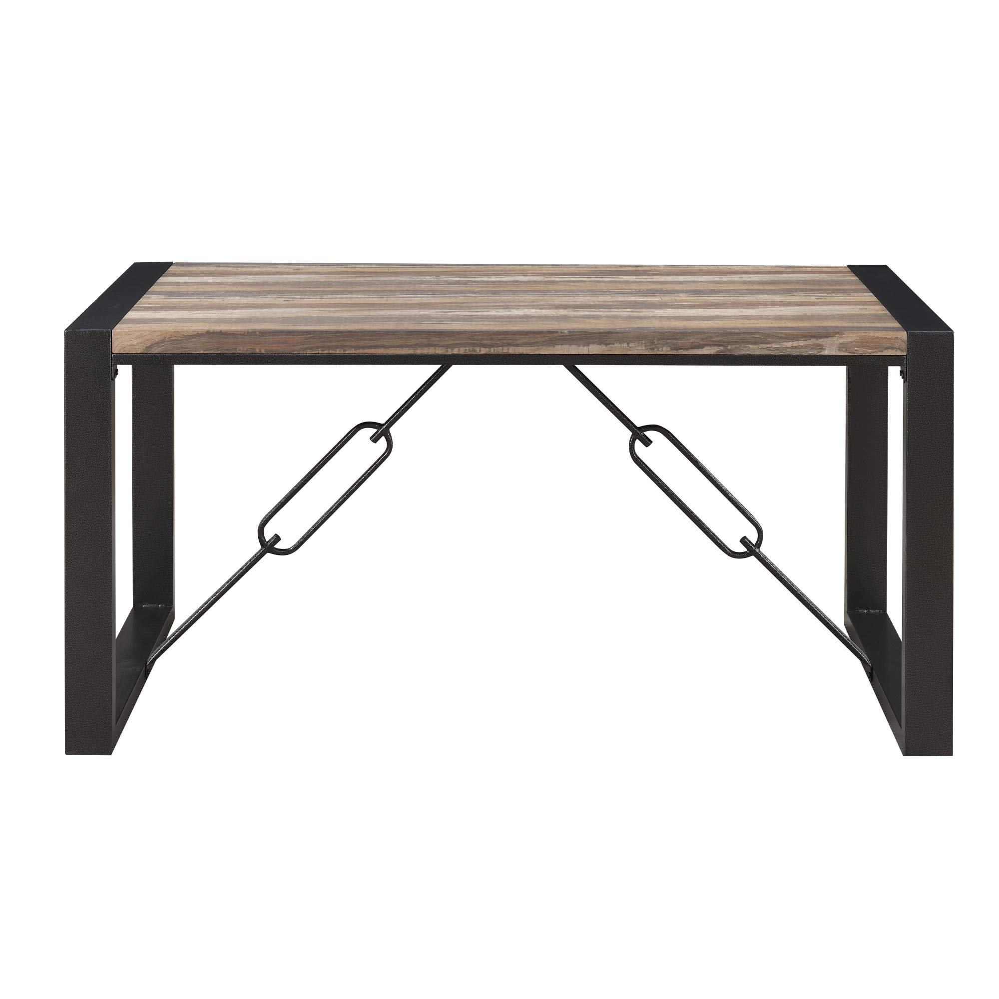 Taras 59'' Dining Table in Jet Black with Wood Veneer Top And Metal Base, by Artum Hill by Artum Hill (Image #2)