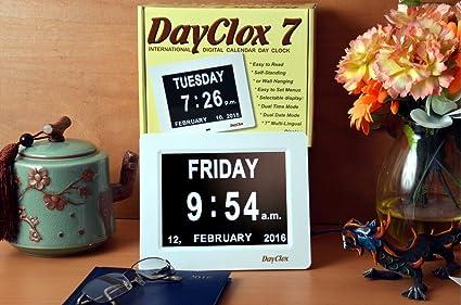 ChiTronic día reloj calendario Digital con pantalla extra grande caracteres FECHA tiempo – Ideal para personas