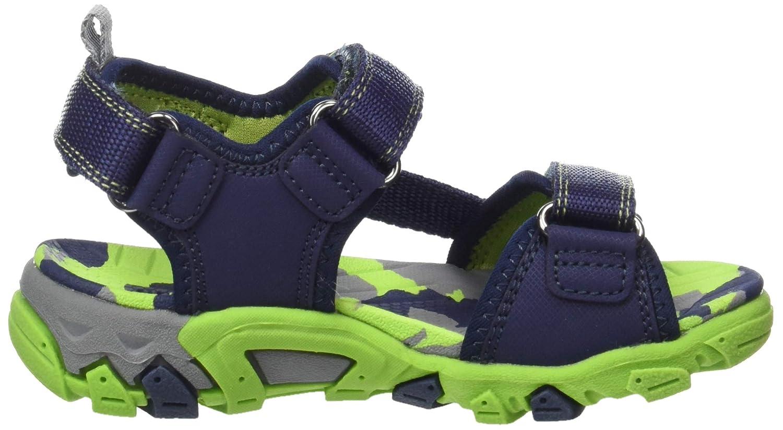 Superfit Boys/' Henry Ankle Strap Sandals, Blau//Gr/ün 80 8 UK