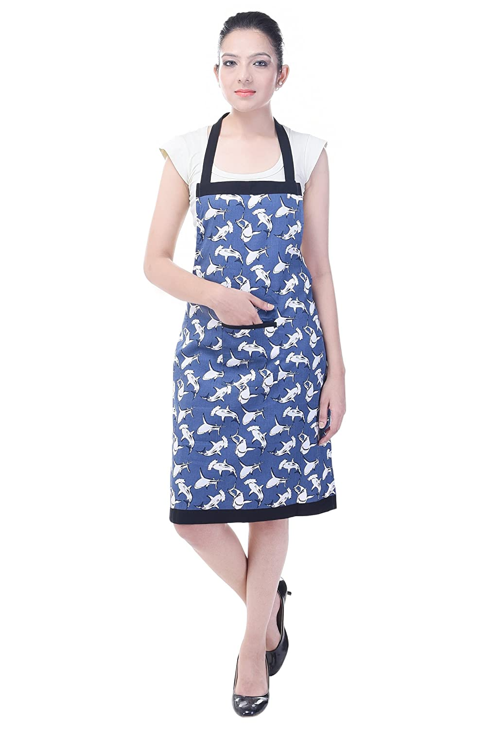 d8011121f4d Buy Switchon 30x23-inch Cotton Waterproof Printed Kitchen Apron  (Multicolour) Online at Low Prices in India - Amazon.in