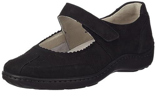 Waldläufer Henni 496302 Ama191 001 - Mocasines de cuero para mujer: Amazon.es: Zapatos y complementos