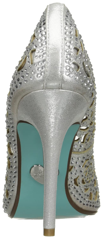 Blue by Betsey Johnson Women's Sb-Elsa Dress US Silver Pump B011PM8P76 9 M US Silver Dress Fabric 6bb0cf