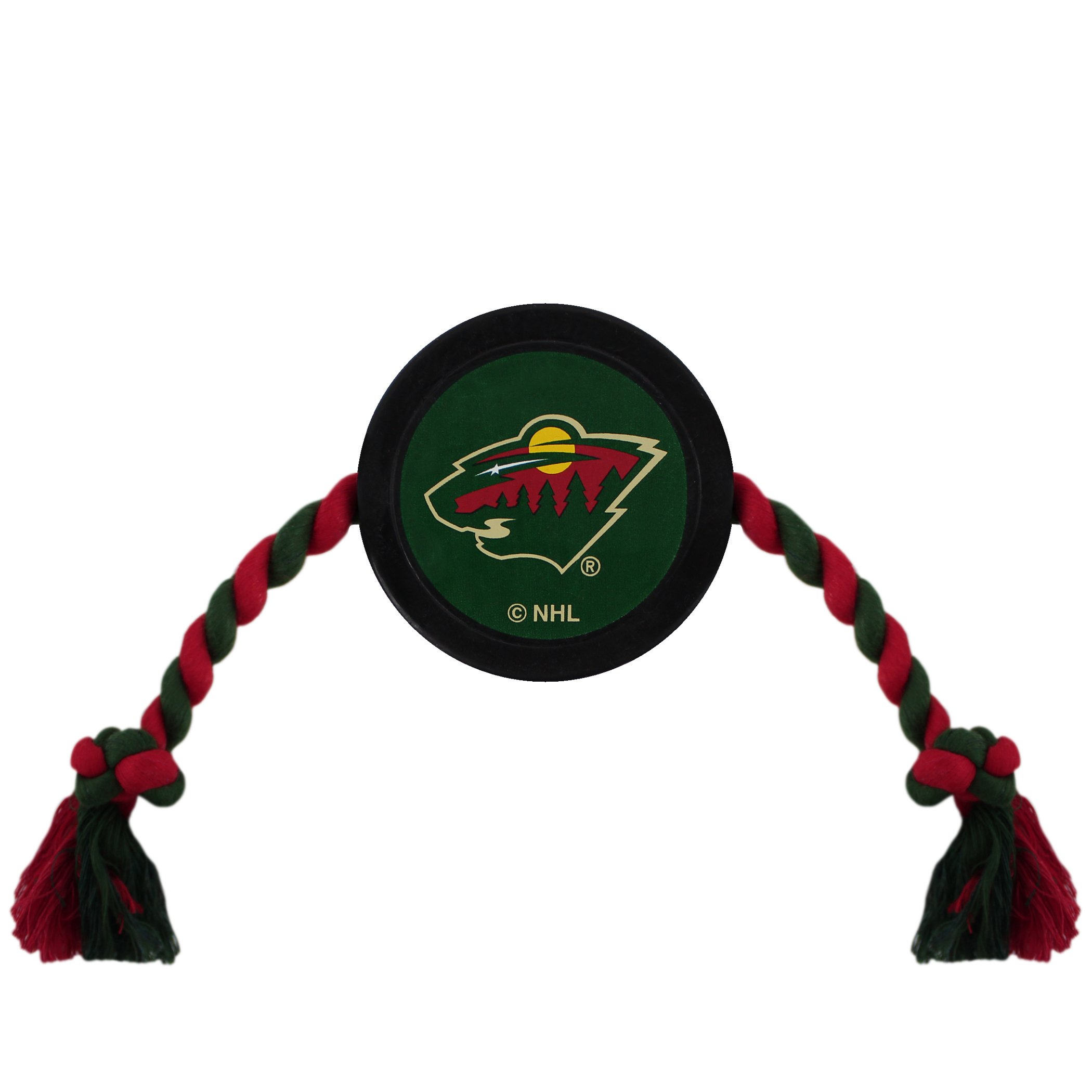 NHL MINNESOTA WILD PUCK TOY for DOGS & CATS. Play Hockey with your Pet with this Licensed Dog Tough Toy Reward!