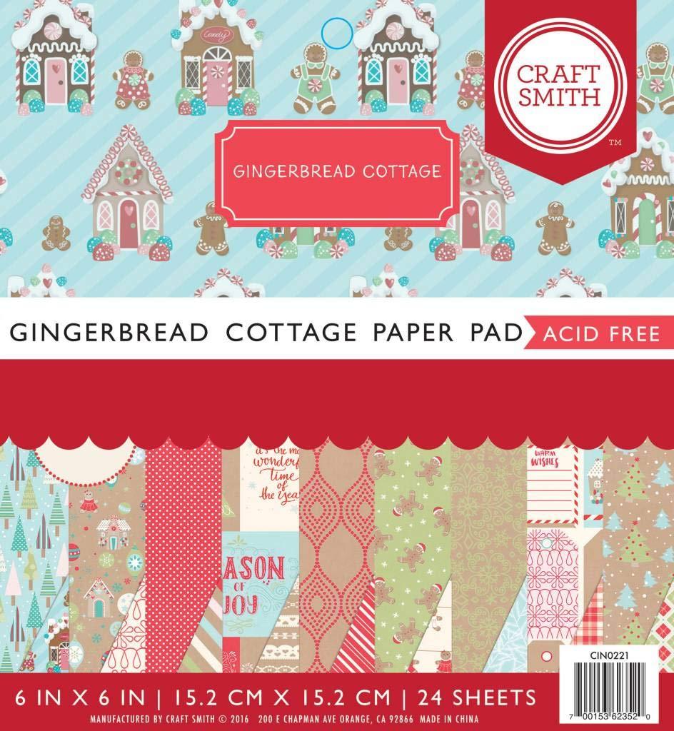 Bloc de papel para manualidades Gingerbread Cottage 15,2 x 15,2 cm