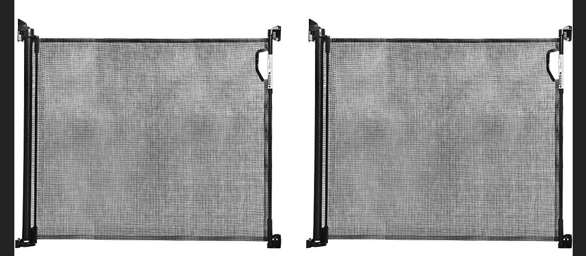 Dreambaby Retractable Gate, Black (Pack of 2)