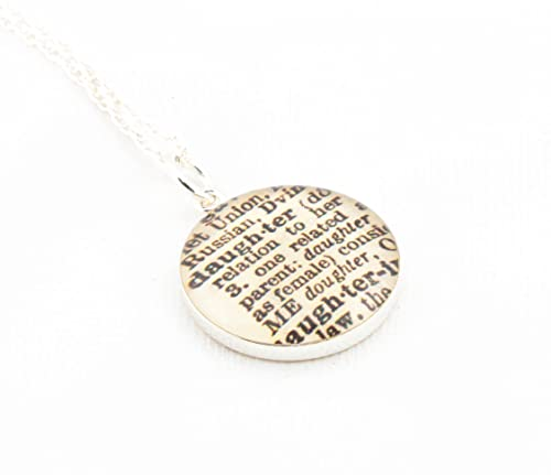 Amazon daughter defined sterling silver pendant and necklace daughter defined sterling silver pendant and necklace with dictionary portion of daughter aloadofball Choice Image
