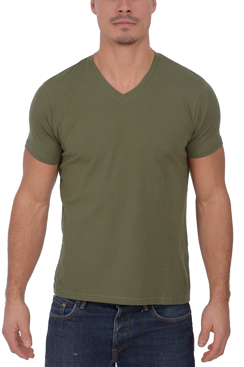 British Invasion Men's Solid V Neck T- Shirt BIAC
