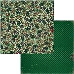 Bo Bunny 7310908 Christmas Treasures - Papel para manualidades (30,5 x 30,5 cm), diseño de Navidad